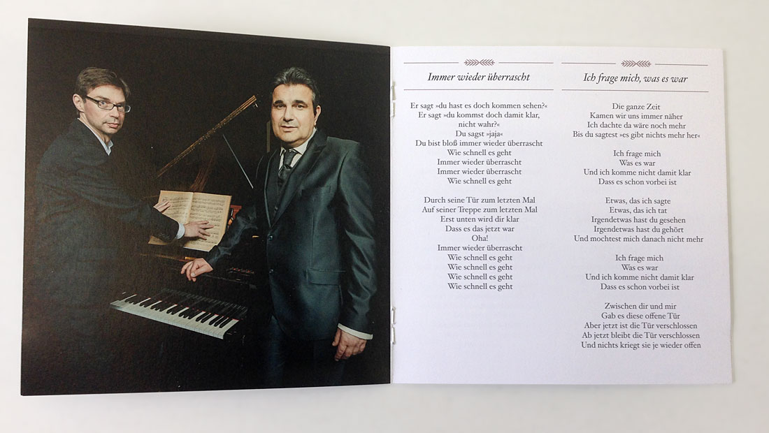 Bernd Begemann Die Stadt und das Mädchen CD-Booklet
