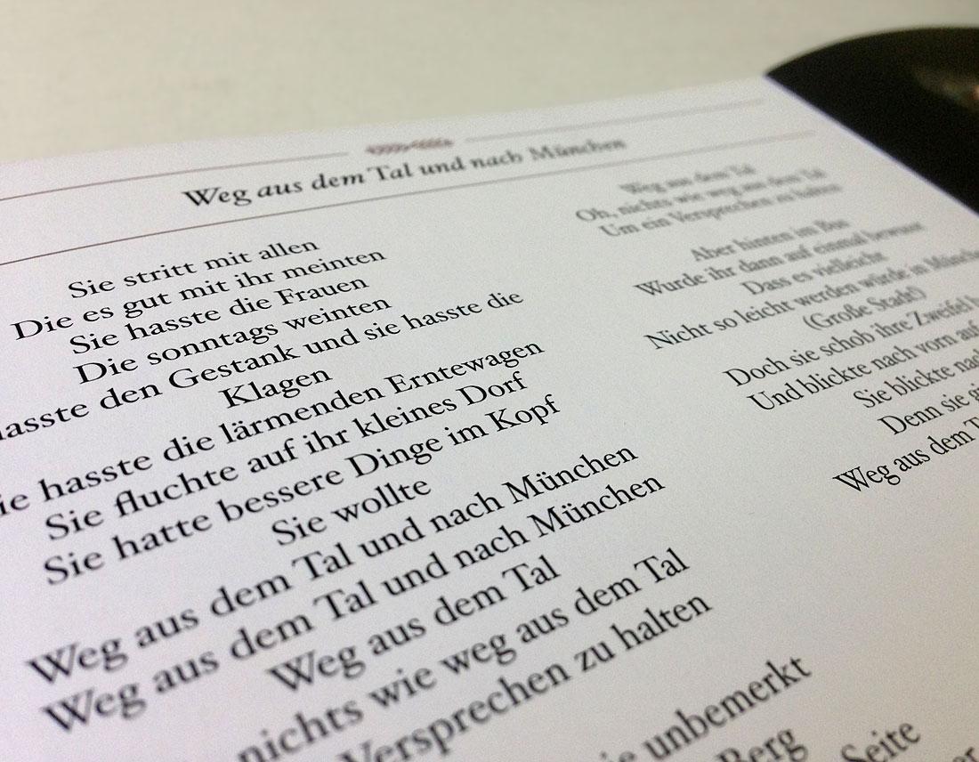 Bernd Begemann Die Stadt und das Mädchen CD Booklet