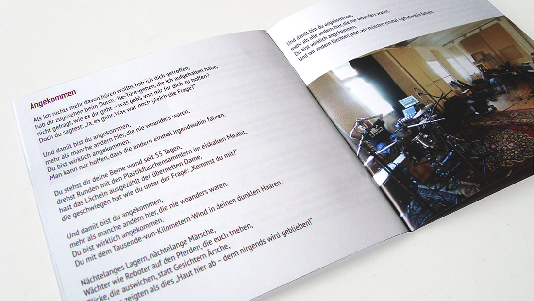 Bookletseite Manfred Maurenbrecher