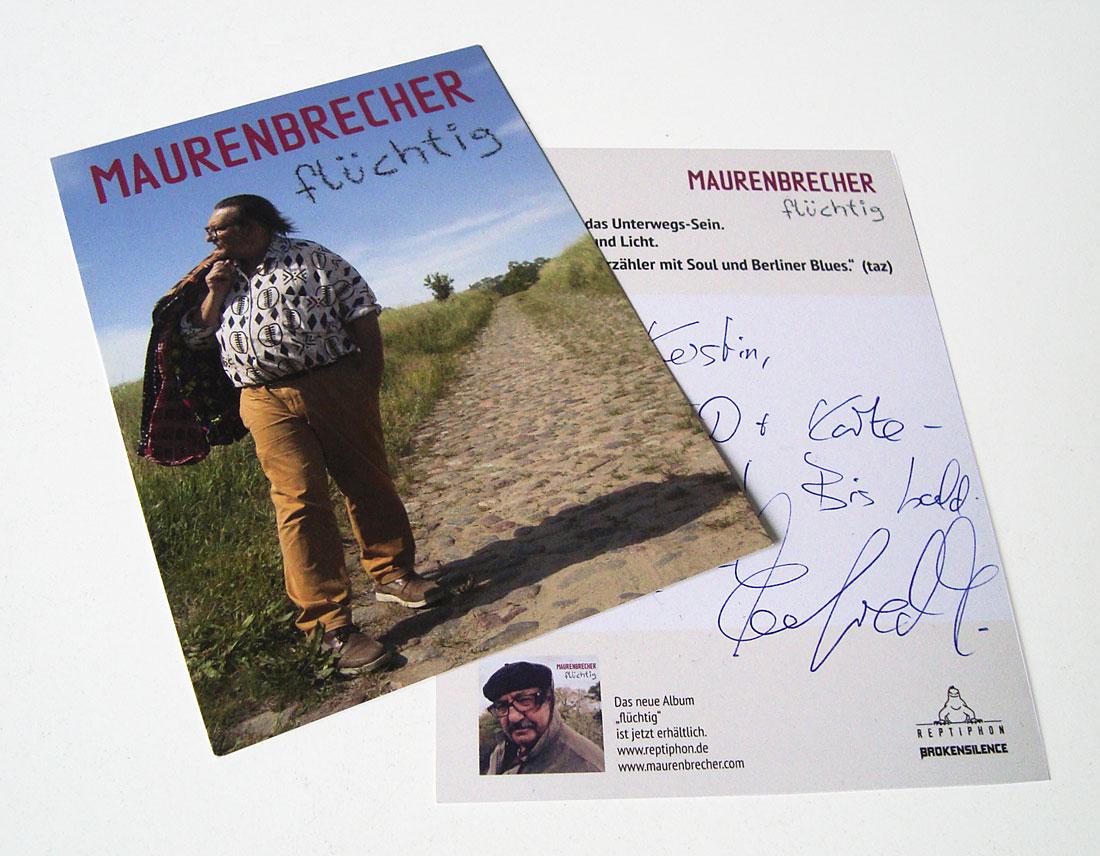 Flyer Manfred Maurenbrecher
